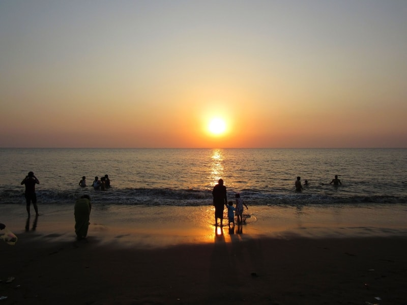 Sunset at Ubharat Beach