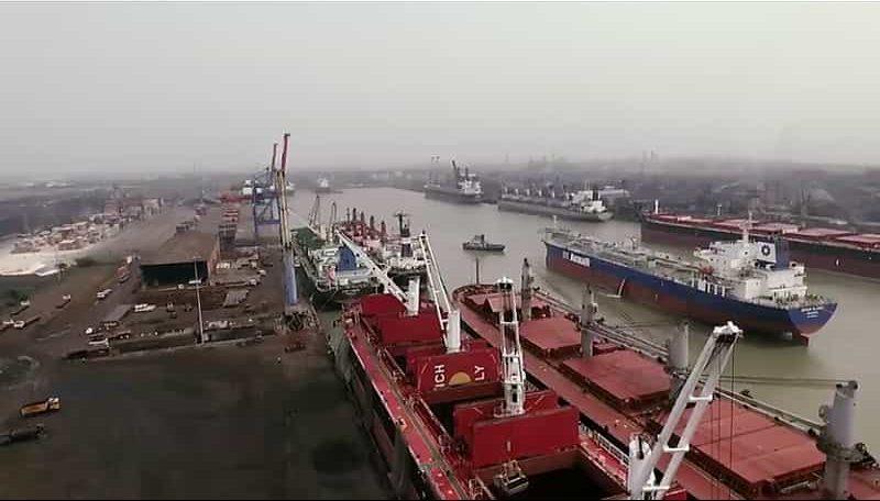 The busy Haldia Port