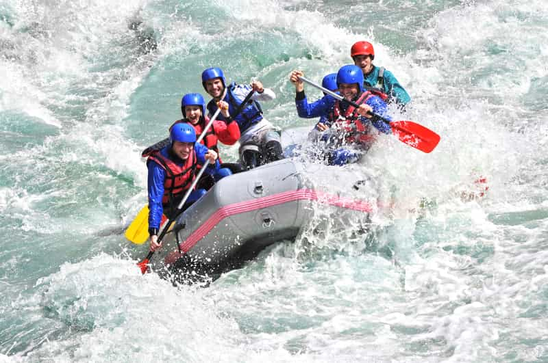 The monsoon is the best time to go rafting in Coorg
