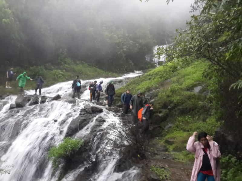 Trekkers at Andharban