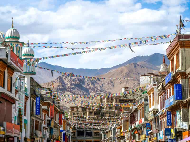 Main bazaar in Ladakh