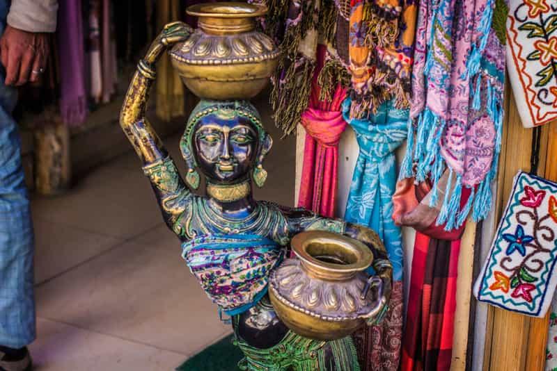 A Pashmina shawl shop