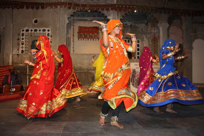 A Traditional Folk Dance At Chokhi Dhani