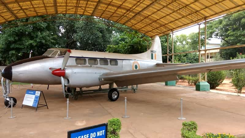 De Havilland Dove on Display at the Museum