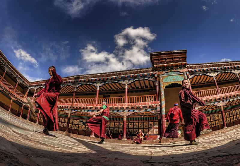 Monks performing at Hemis Monastery