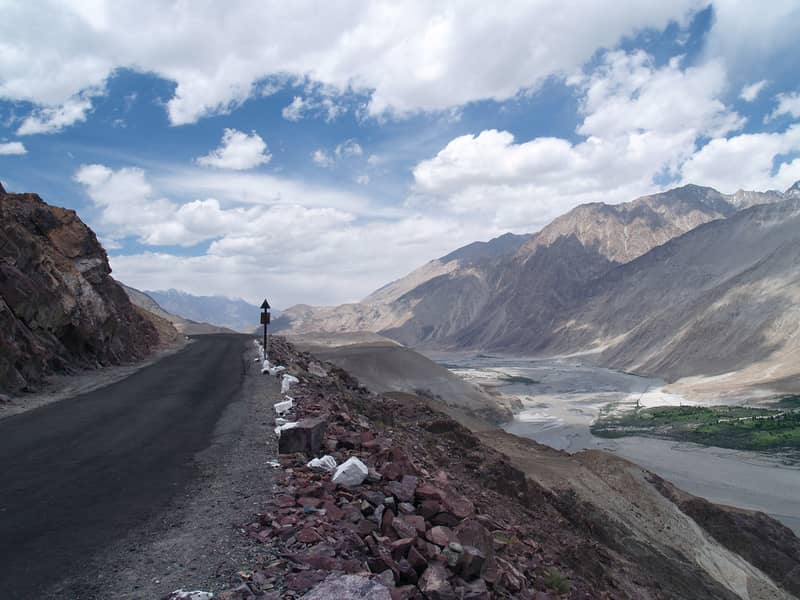 Road from Leh to Nubra Valley