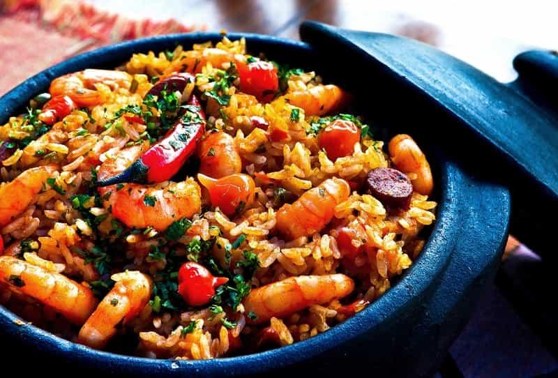 A Prawn seafood dish