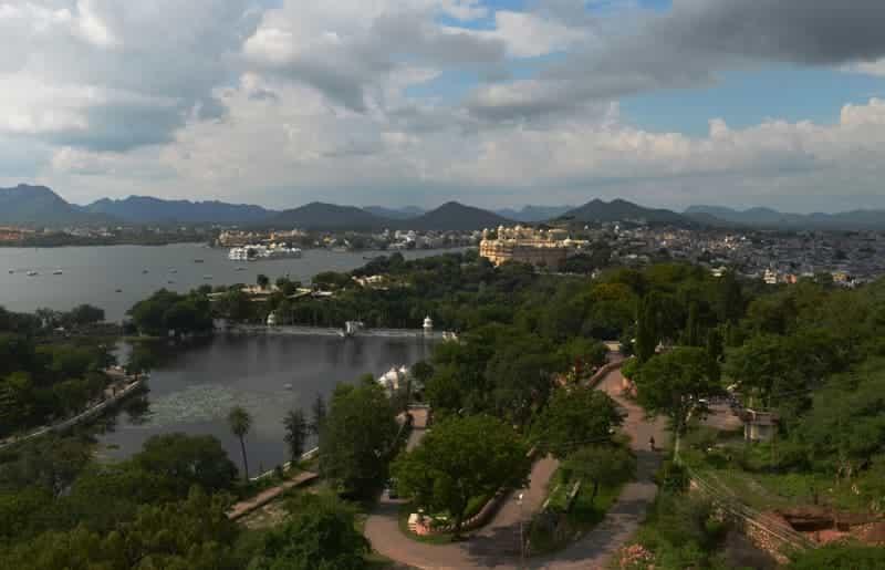 Aerial view of Manik Lal Verma Park
