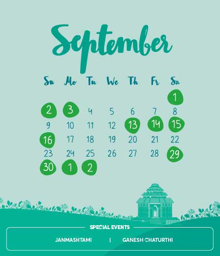 Long Holidays, September 2018