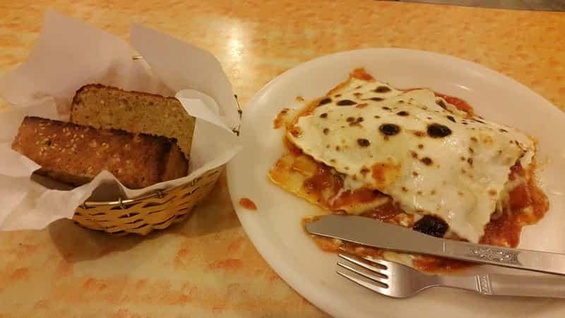 Lasagna at Nick's Italian Kitchen
