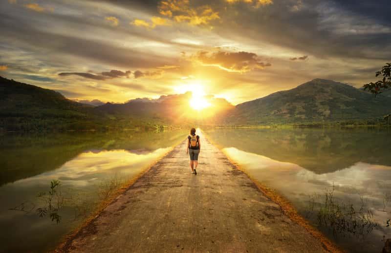 Traveler Walking