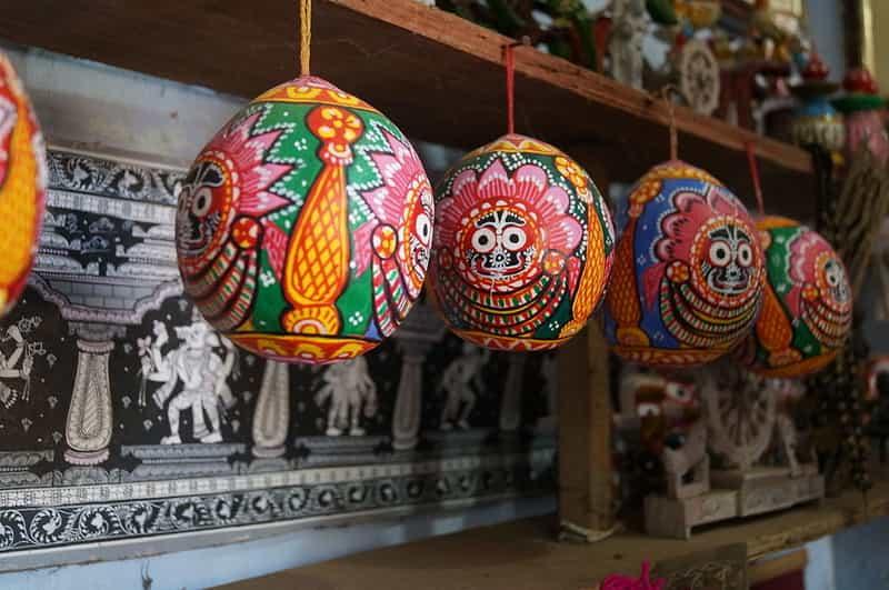 Paintings at the Odisha Modern Art Gallery