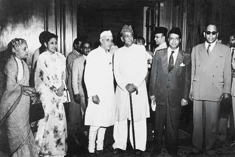 Pandit Nehru with Malik Ghulam