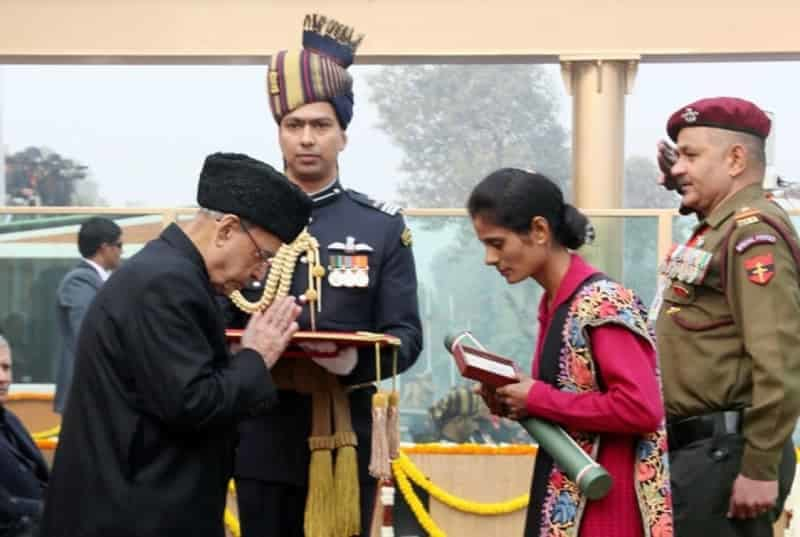 Award Ceremony in Indian Republic Day