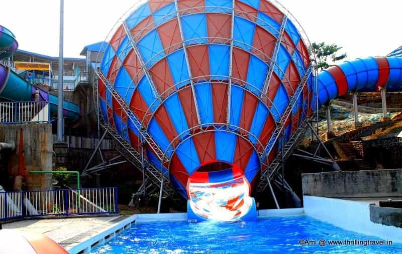A thrilling slide at Adlabs Aquamagica