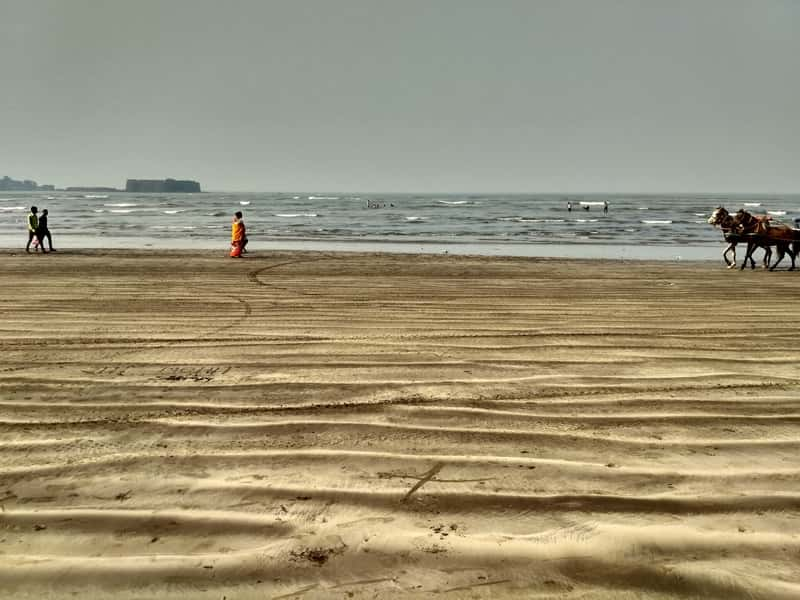 Enjoy the ambiance at the Alibaug Beach