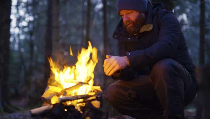 Man Camping Alone