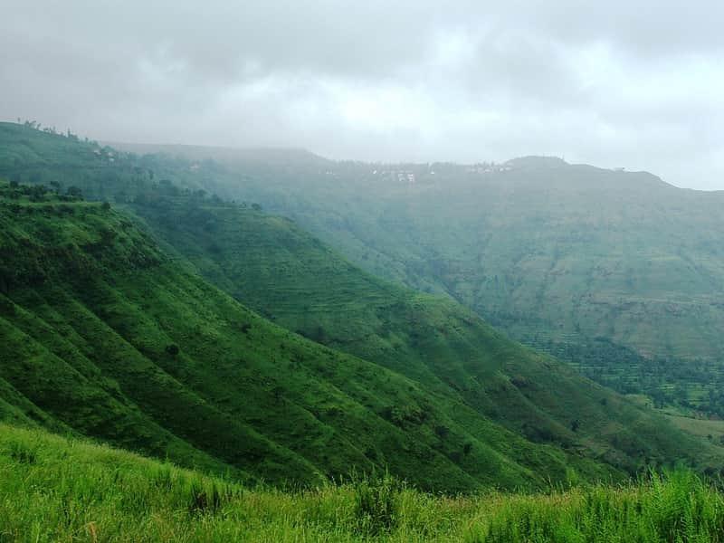 The stunning, green landscape at Panchgani
