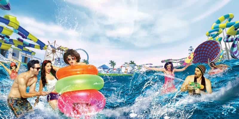 People enjoy watersports at Imagica Adlabs