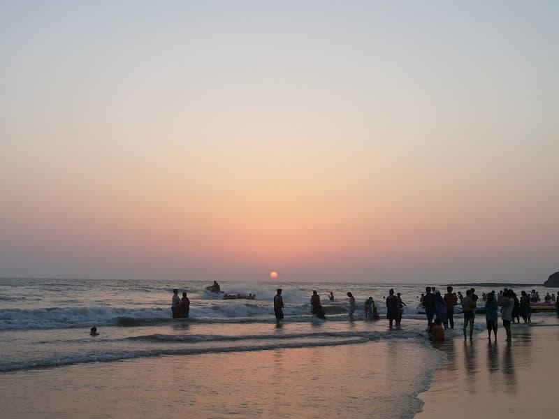 People enjoying themselves at the Alibaug beach