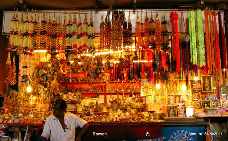 Shopping in Madurai at Night