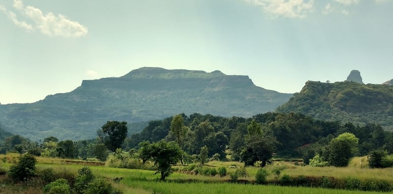 The view of Ratangad Fort