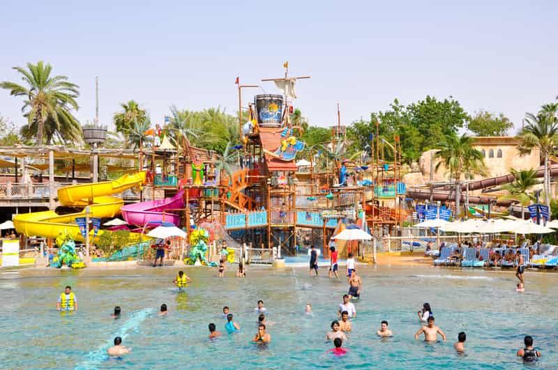 Visitors at the Tikuji-Ni-Wadi amusement park