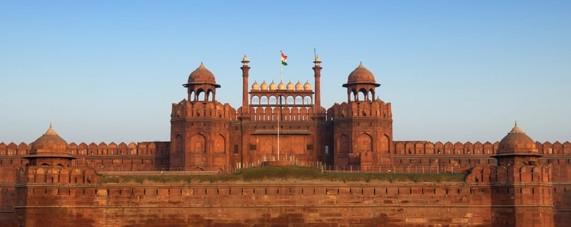 A panorama of the Red Fort
