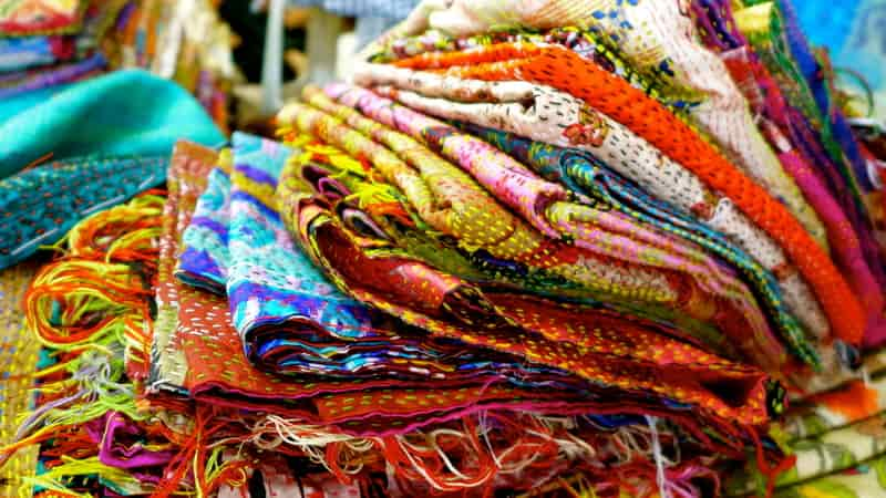 Gorgeous fabric in a variety of hues at Emporia Complex