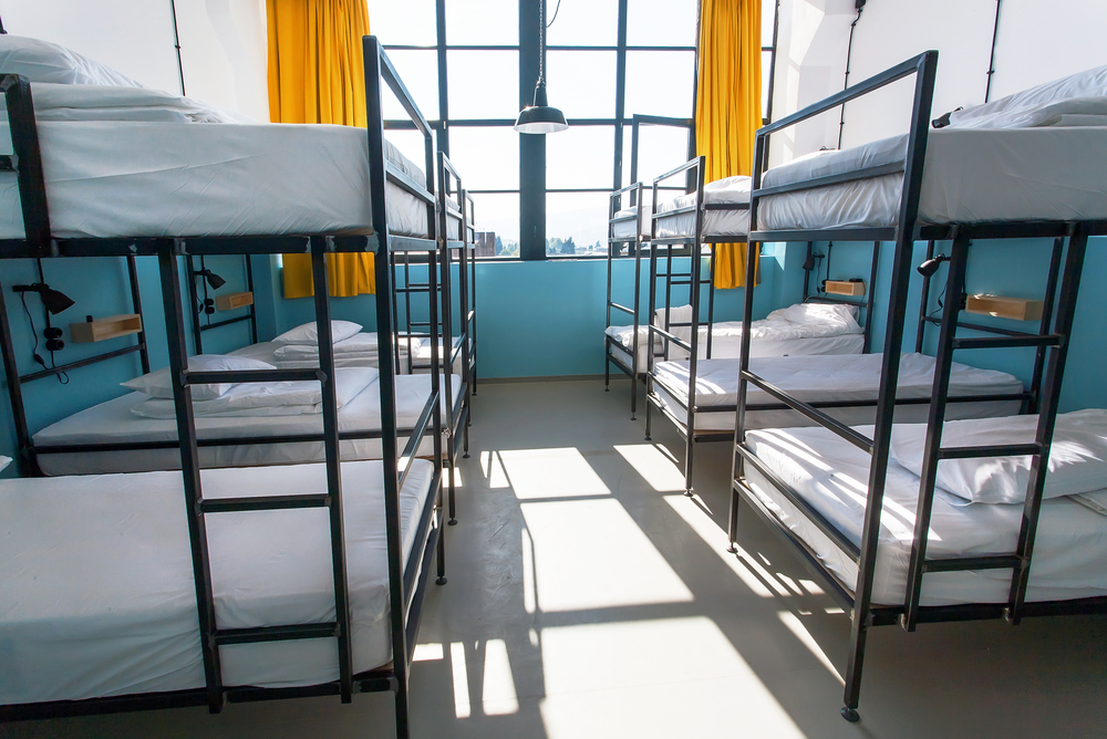 Stay at a hostel during travel