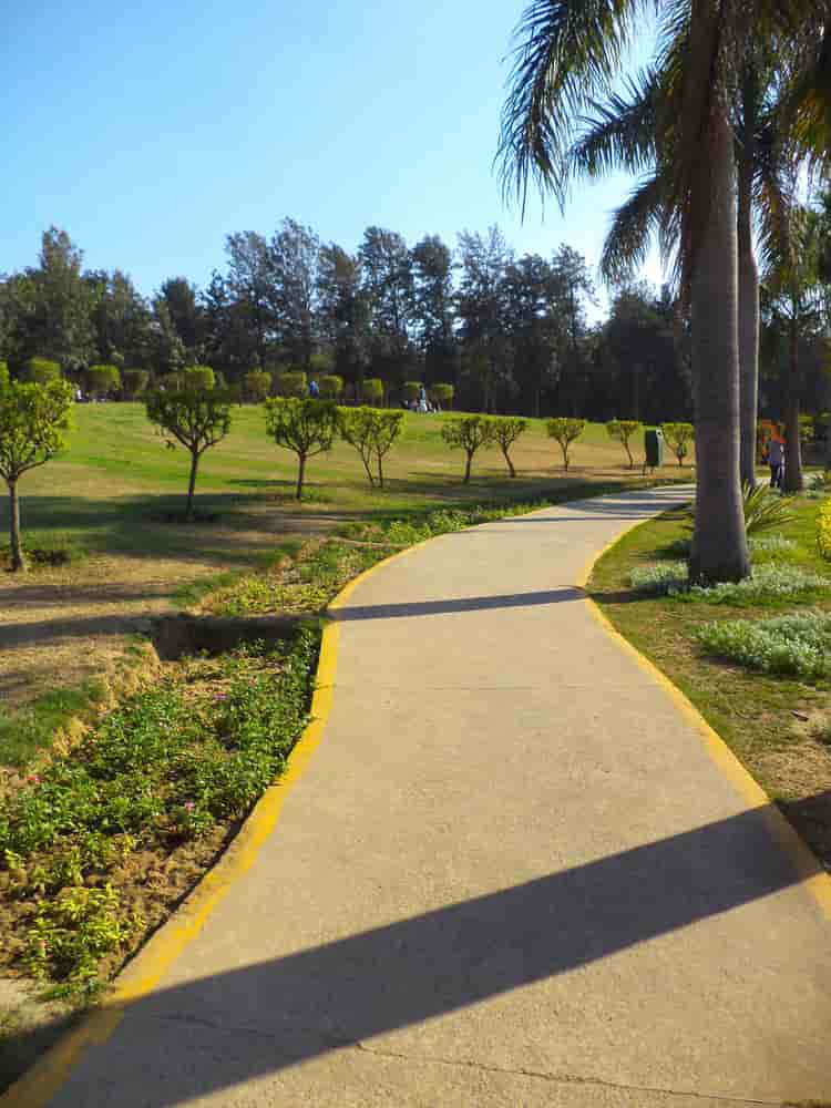 Nehru Park has lush green lawns to relax at