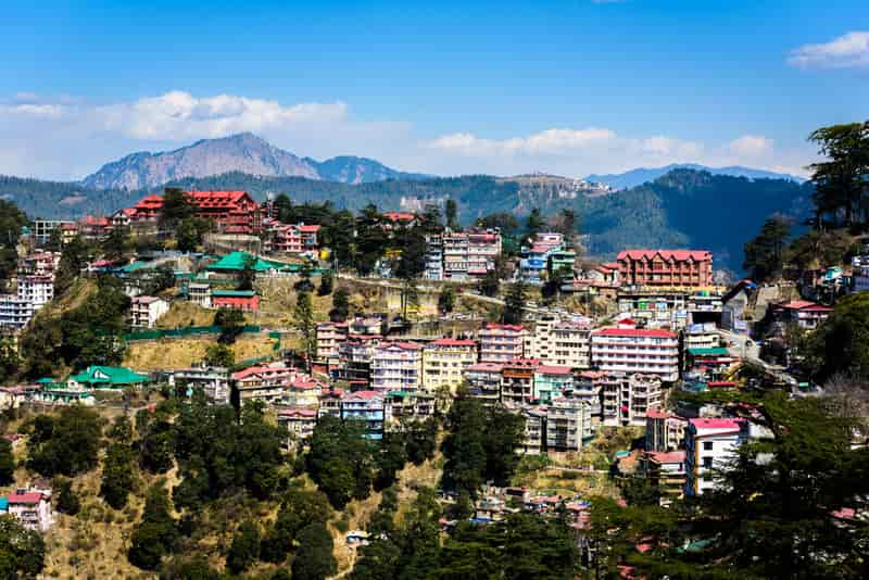 Stunning views of Shimla