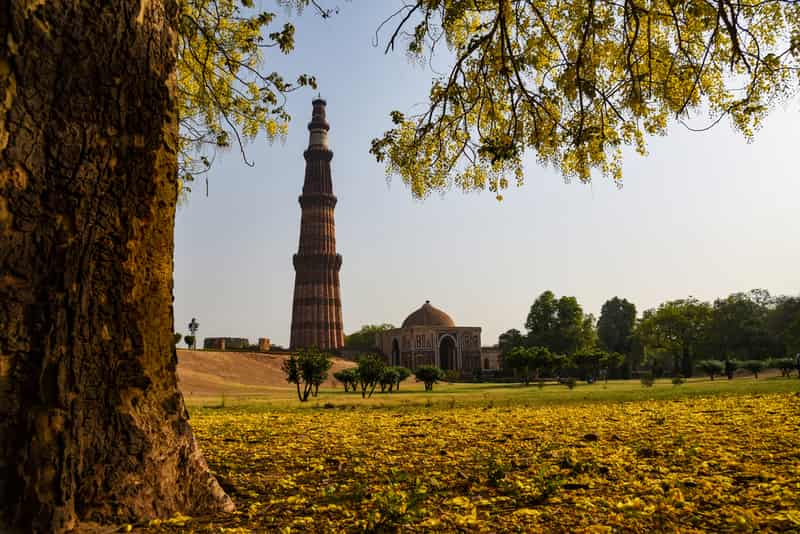 The 72-metre Tower of Victory, the Qutab Minar