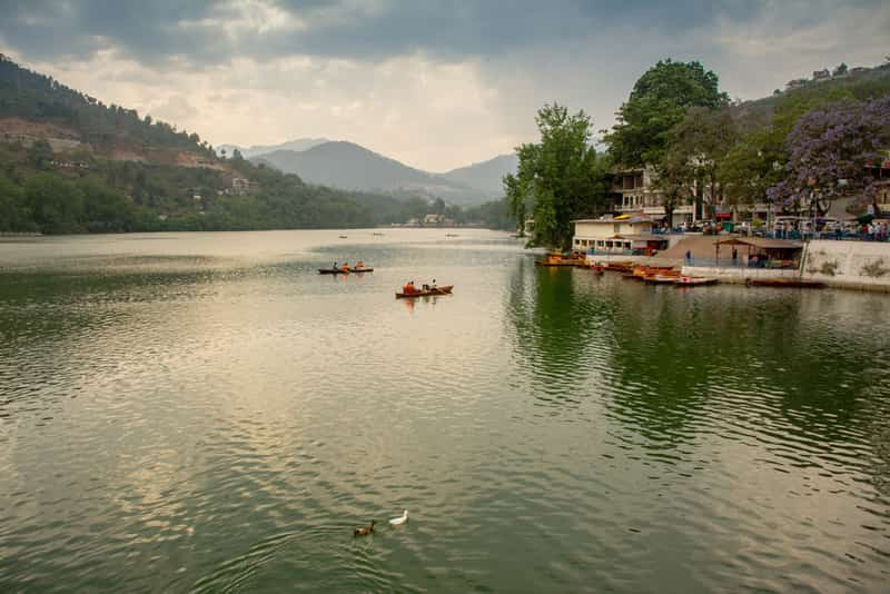 The Bhimtal Lake is a great place for sightseeing