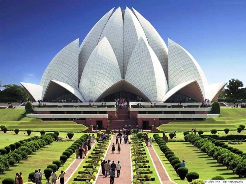 The Lotus Temple, South Delhi