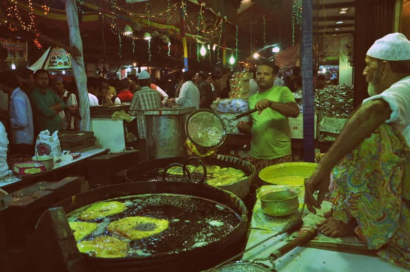 The best time to visit Mohammed Ali Road is during Ramadan