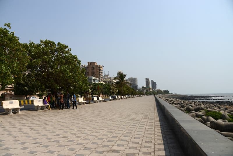 Worli seaface is located just off the Sea Link