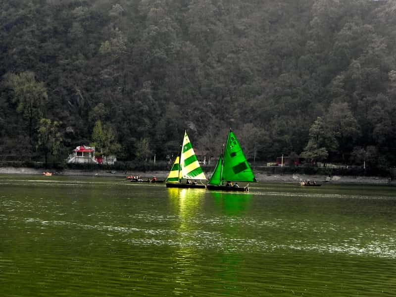 Yachts in Naini Lake