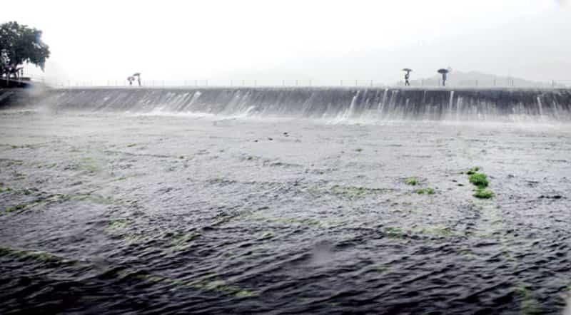 An overflowing Bhatsa lake