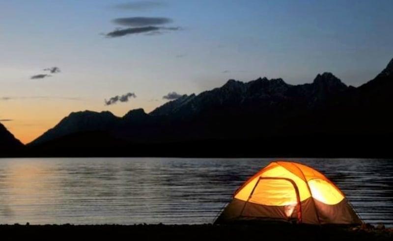 Camp by the Pawna Lake