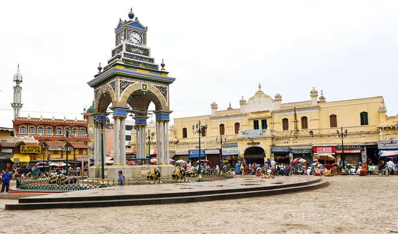Chikka Gadiyara Clock Tower in Devaraja Market, Mysore