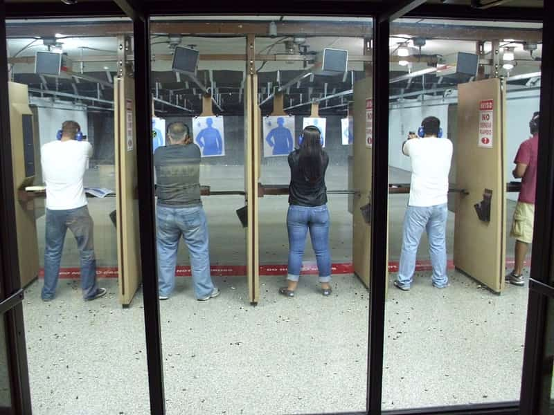 Competing At The Shooting Range
