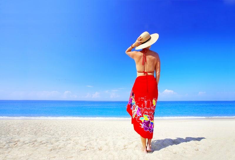 Girl in a beautiful sarong