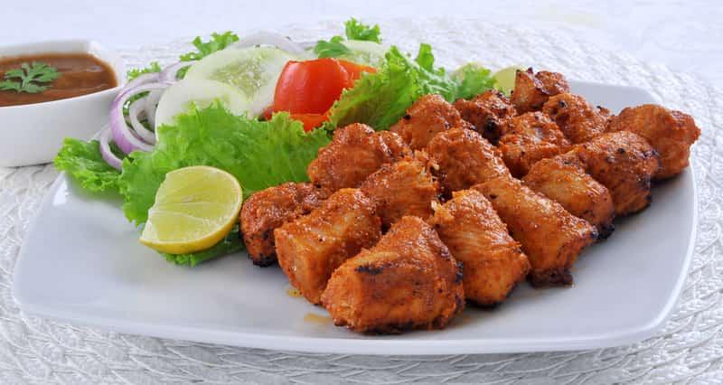 Meat-lovers should try the chicken tikkas in Vijayawada