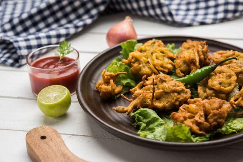 Pakodas are an Indian favourite, and hugely popular on the streets of Vijayawada