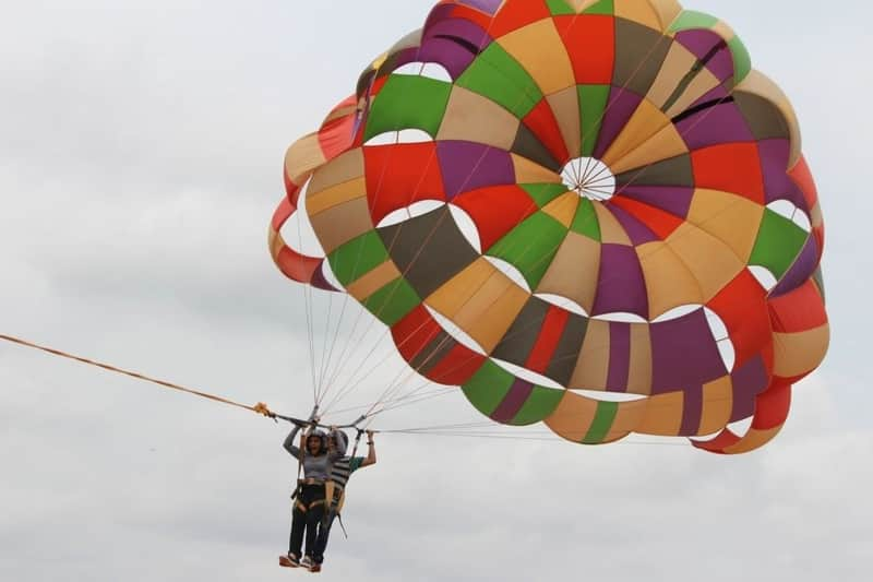 Parasailing at Jakkur Airfield