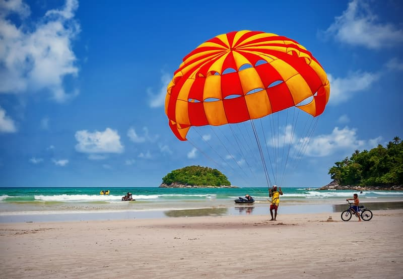 Parasailing on a Beach in Goa