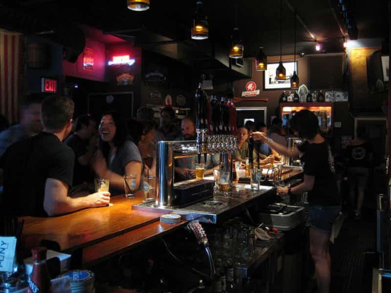Patrons enjoying themselves at a bar in Delhi