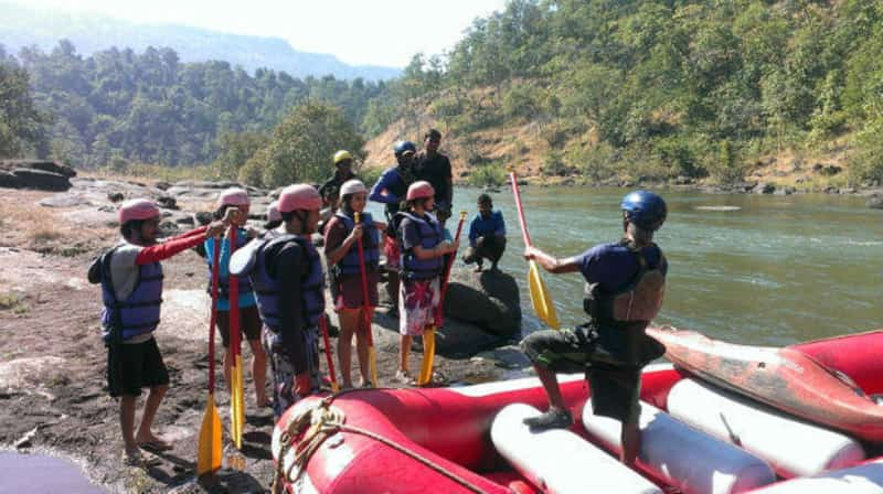 Patrons readying to try their hand at whitewater rafting