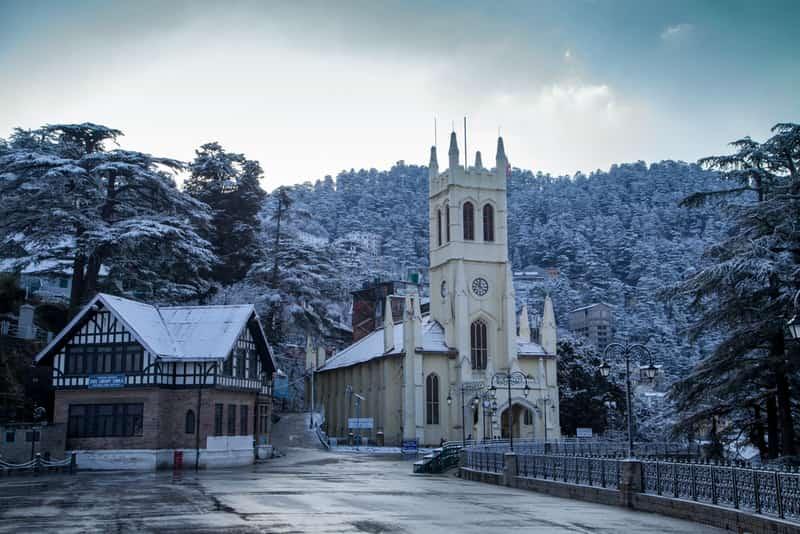Shimla on a snowy day